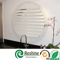 Adjustable white PVC window vinyl shutter