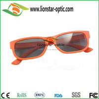 Plastic linear polarized 3D glasses for TV and cinema