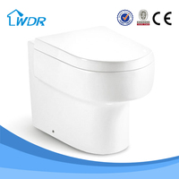 Adult p-trap white color sanitary bath wall chinese toilet pot