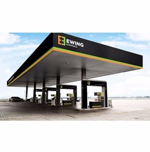 long span easy erection tubular space frame structure petrol station design architecture