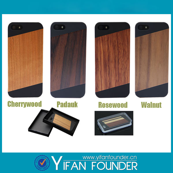 Hot cover for iphone 5 blank bamboo wood cell phone case