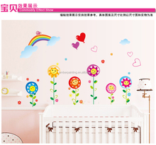 Hot nursery school or family rainbow wall stickers wall decor for kids