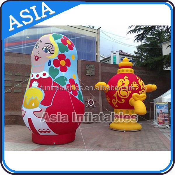 Colorful Airtight Matryoshka And Tea Pot, Inflatable Models For Sale