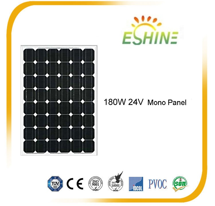 Top quality mono 180w solar panel made in japan