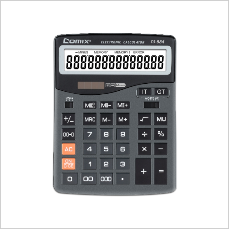 2016 high quality Dual Power big display 16 digits electronic citizen calculator