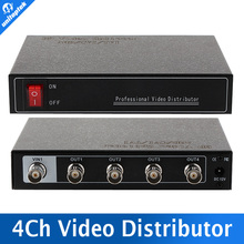 Mini 1CH In And 4CH Output HD 4 Channel Video Distributor SupportHDCVI/TVI/AHD Camera BNC Output,Max Up To 300-600M