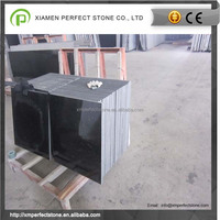 Black galaxy granite tiles for black stone wall tiles