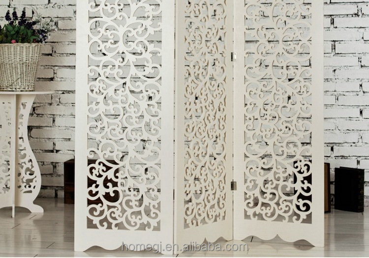 white color foldable removable laser cut wood screen dividers panels buy laser cut screen. Black Bedroom Furniture Sets. Home Design Ideas