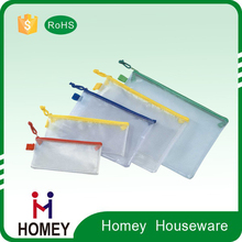 Clear/Transparent PVC Zippered Pencil bag/Pencil Pouch/Plastic Pencil Case