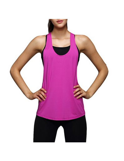Sexy Womens Basic Loose Low V Neck Racerback Sport Tank Top
