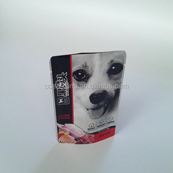 Qingdao manufacture pet food packaging aluminum foil laminated material stand up bag