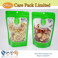 Hot selling clear dried fruit packging aluminum foil zipper bag