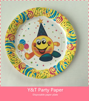 "9"" (23cm) Round Paper Plates Birthday Party Tableware"