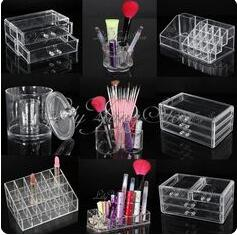 Cosmetic Lipstick Brush Holder Drawer Clear Acrylic Storage Makeup Organizer