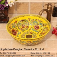 China factory direct ceramic colored washing basin bathroom toilet basin