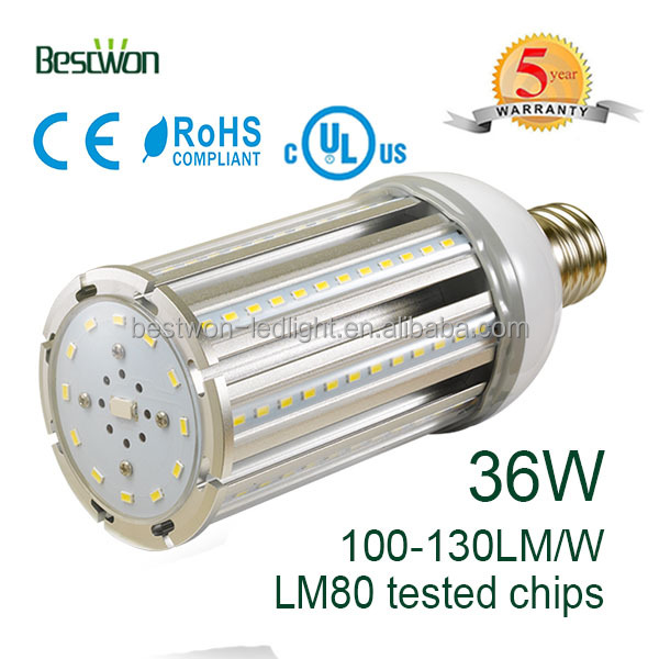 36w LED Corn light for Sloar IP64 105lm/w Warm White LED Corn Light Lamp (Repalce HPS)
