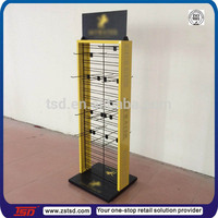 TSD-M561 factory custom metal display stand for mobile accessories,phone case display rack,hook floor display