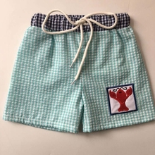 Summer bulk wholesale kids clothing seersucker boy short pants with embroidery
