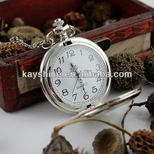 Elegant antique large size bright silver pocket watch