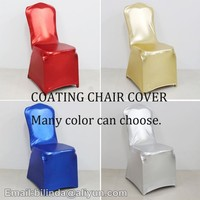 reflection material metallic spandex chair cover for wedding