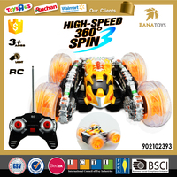 Plastic 360 degree rotation electric rc car