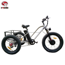 New hot 48V 500W fat tire cargo electric beach tricycle 3 wheel bike lcd display e-tricycle