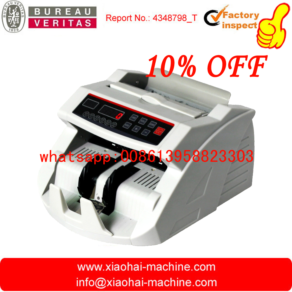USD / EURO Cash Machine Bill Money Currency Counter With UV MG Detection Bill Counter