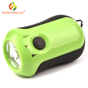 Hot Sale Long Beam Powerful Mini COB led Plastic Manual Rechargeable Flashlight Torch