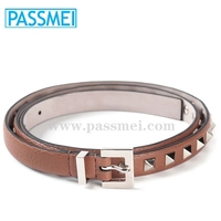 Genuine Leather Belt With Different Rivets