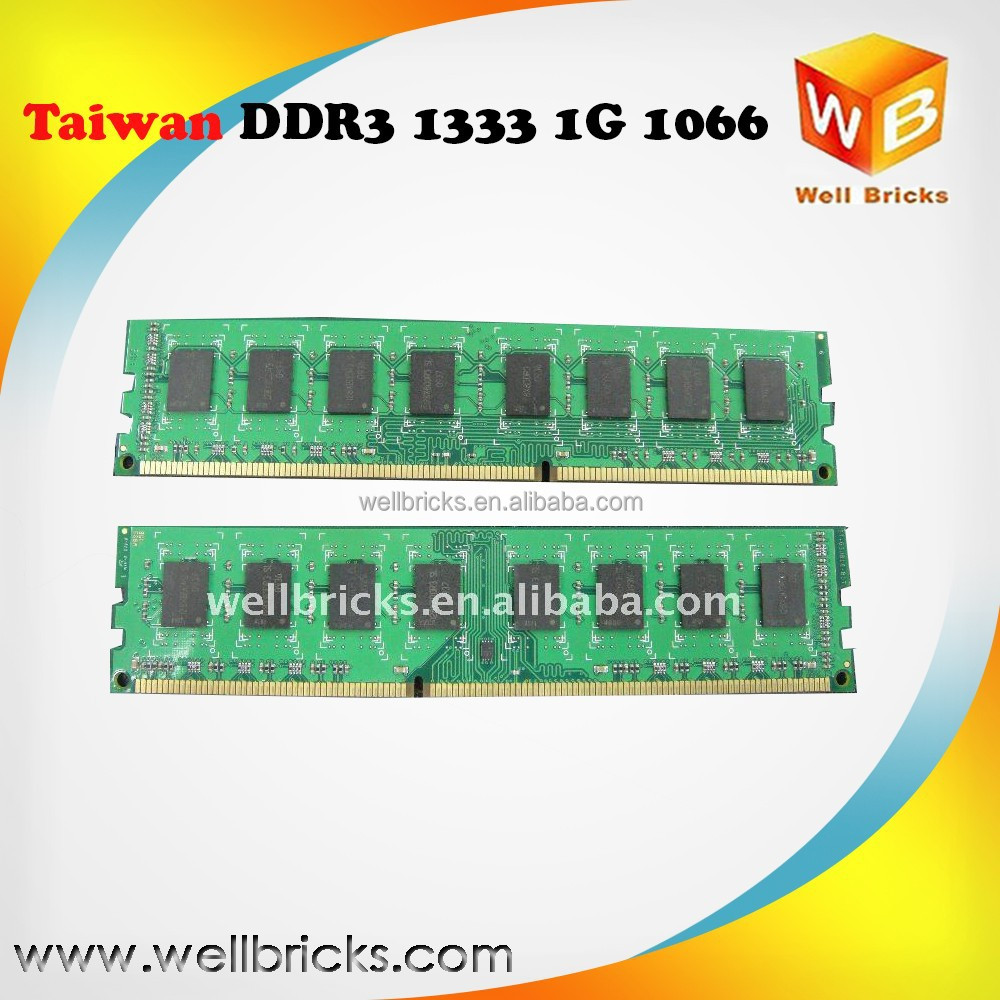 Best Selling in Taiwan desktop memoria 1G 1333 128x8 8c RAM DDR3