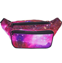 Wholesale 600D Outer Space Galaxy Fanny Pack for Running Hiking