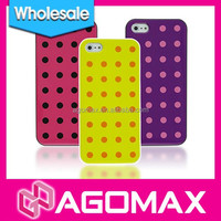 Wholesale TPU cellphone case for iPhone 5 with dot pattern and exquisite gift box