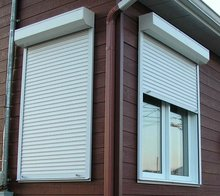 manual open aluminum shutter window with roller up / rolling windows