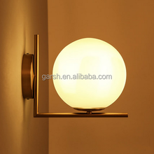 2016 modern glass ball hotel wall lamp project lighting fixture