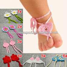 High quality knitting handmade baby barefoot sandals wholesale