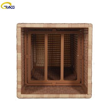 Rattan wicker planter outdoor all weather garden rattan handmade resin wicker planter