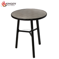 24 Inch Garden Mosaic Table With Powder Coated Steel Structure