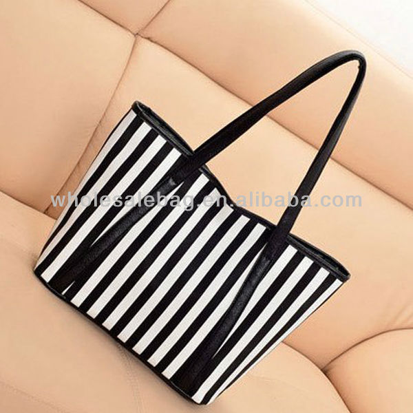 China Factory Supply Ladies Girl's Women's Europe Zebra HandBag LARGE HAND TOTE BAG Shopping Bag BEACH BAG