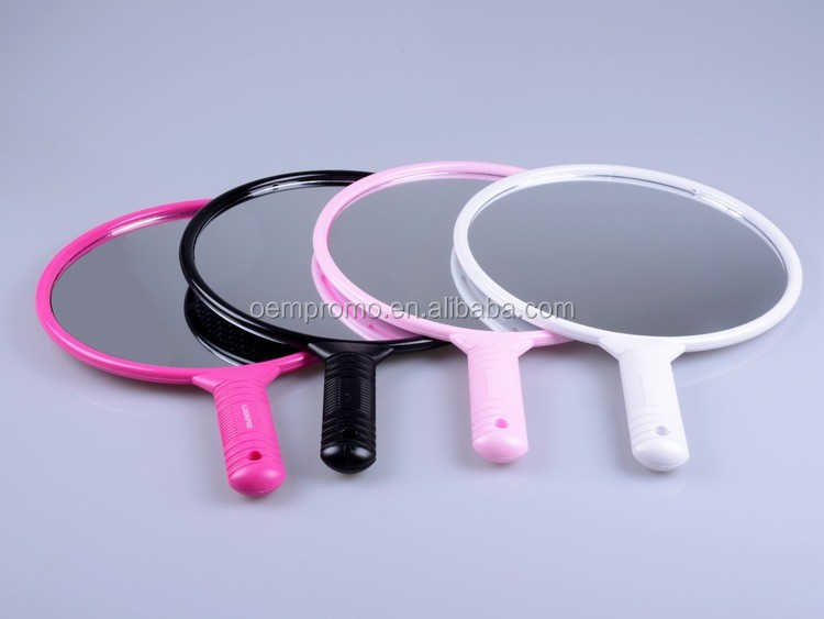 Large Size Round Decorative Plastic Make Up Mirror