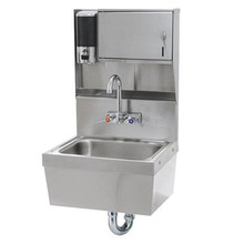Ss316 Undermount Stainless Steel Hospital Knee Operated Hand Washing Sink
