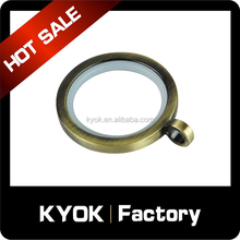 KYOK decorative bronze curtain rings, wholesale curtain accessories,43mm Curtain rings