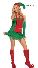 DJ-PZ-202 christmas tree Set green tea elf costume fun dance holiday party clothing