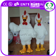 HI Holiday decoration white chicken wing costume, adult chicken-rider mascot costume