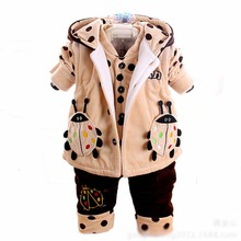 CB10017 latest design winter three pieces baby suits