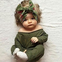 MS61613K long sleeve color army green hot romper baby cute
