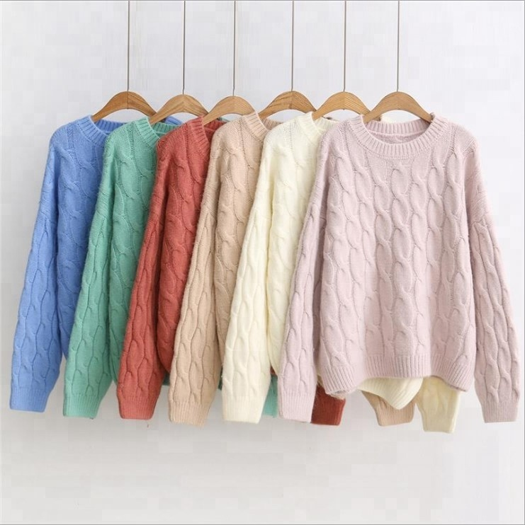 Wholesale Latest Fashion Women Striping Knit Sweater