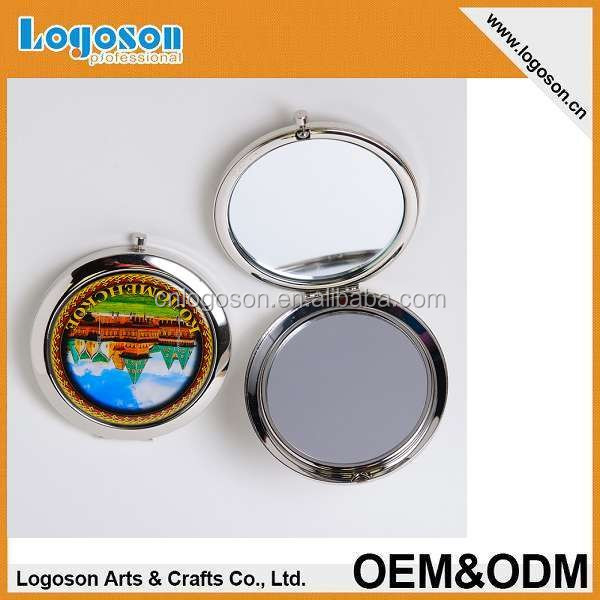 2015 top quality novlety gift items personalize foil paper Russian souvenir Cosmetic mirror
