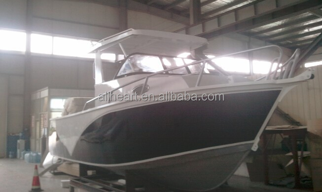 6.25M center cabin Aluminum sport fishing water-skating small yatch boat