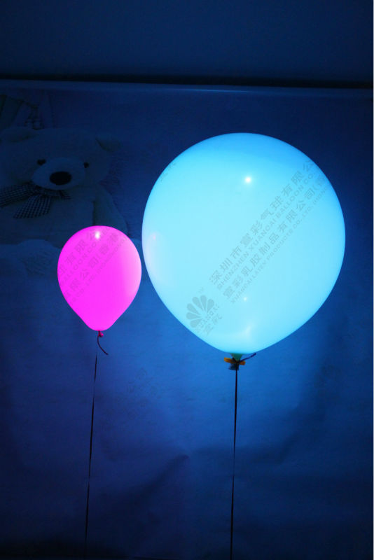 high quality inflatable latex large size LED balloon 30""