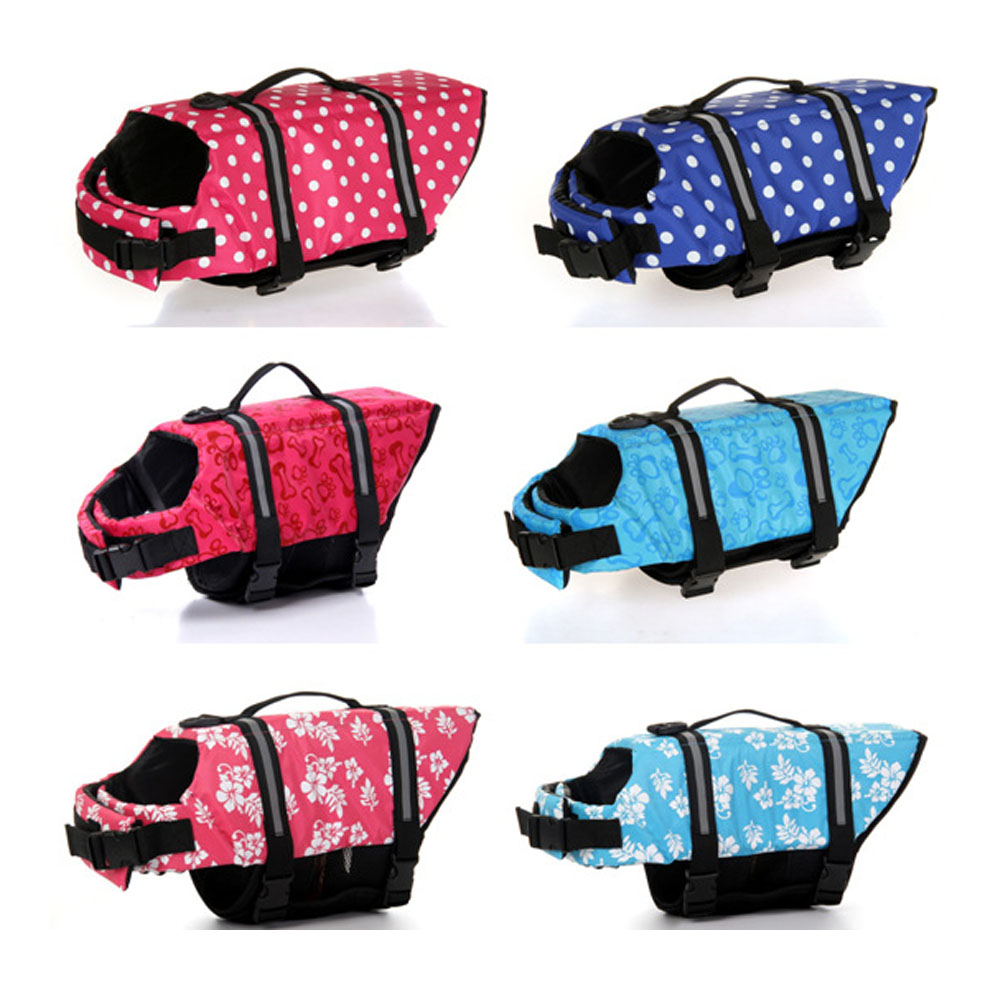 Adjustable Dog Life Vest Jacket , Reflective Pet Doggy Lifesaver Safety Coat for Swimming,Boating